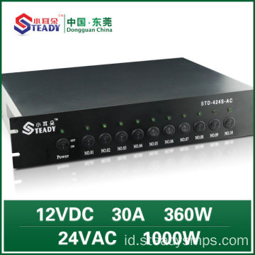 1U Power Supply AC yang dipasang di rak