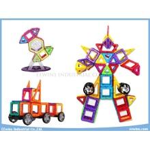 108 STÜCKE mit Rädern Magnetische Puzzle Spielzeug Weisheit Lernspielzeug für Kinder