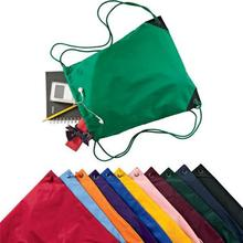Back to school nylon drawstring school pouches