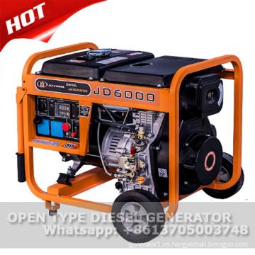Generador diesel refrigerado por agua del marco abierto 5kw para la venta