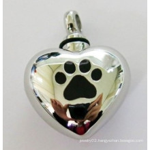 Stainless Steel Heart Cremation Jewelry Foot Print Ashes Cremation Jewelry