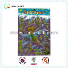 Pretty girls PVC stickers with gilt-edge