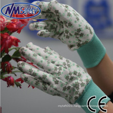 NMSAFETY lady jersey pvc dots hand protection safety gloves manufacturer