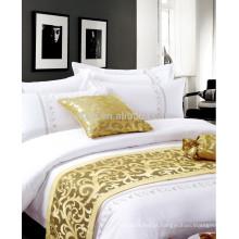 Algodão Bordado Algodão Hotel de Luxo Bed Sheets Bedding Set
