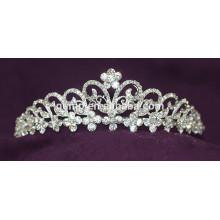 Высокое качество Кристалл новобрачных Корона Rhinestone Свадебная диадема