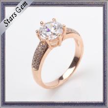 Jóias personalizadas do anel de Rosa de prata do projeto 925