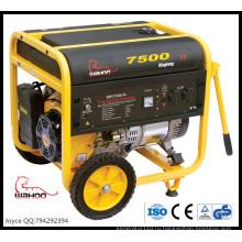 Горячая Продажа 100% медный провод 6 кВт 6.5 кВт портативный Промышленный генератор Газолина