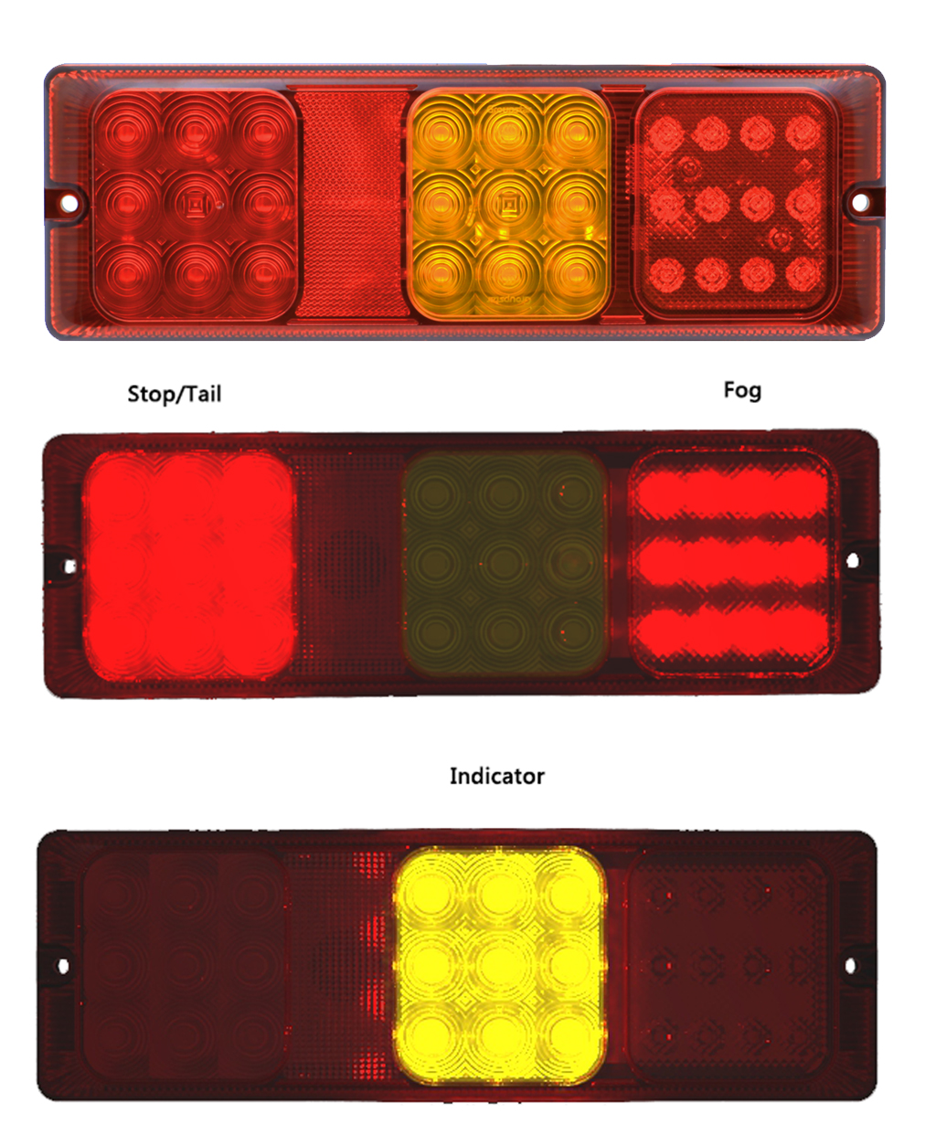 Truck Trailer Combination Rear Tail Lamp