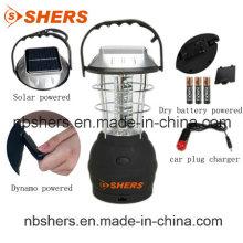Solar recargable 36PCS LED emergencia lámpara USB Outlet