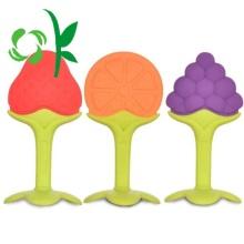 Mordedor de silicona de colores personalizados al por mayor para bebés