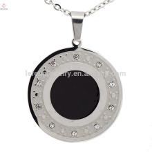 Dubai silver round stainless steel necklace fashion pendant wholesale