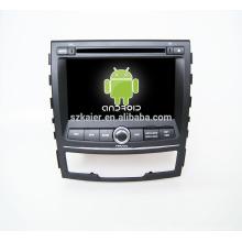 Quad core! Dvd do carro com link espelho / DVR / TPMS / OBD2 para 7 polegadas tela sensível ao toque quad core 4.4 Android sistema Ssangyong Korando