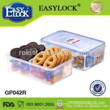 Boîte à lunch bento en plastique avec diviseurs