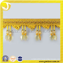 beaded drapery curtain tassel beaded fringe trimming