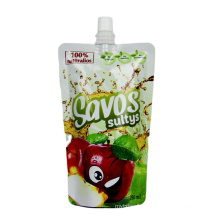 customized beverage juice liquid food packaging bag with spout drink stand up spout pouch