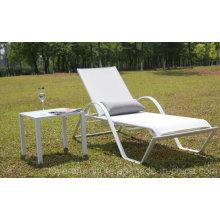 Patio exterior Chaise Lounge Chair con mesa de centro lateral para Hotel Pool Deck Backyard Beach