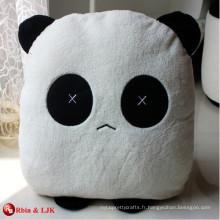 Coussin de panda amoureux charmant et personnalisé