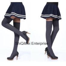 Fábrica oferta clásica carterita larga sólida calcetines medias