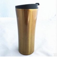 Made in China 16oz 304 Stainless Steel Double Wall Embossing Tumbler with Lip PP