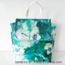 China Supplier Fashion Designer Dame PU Druck Rucksack (NMDK-042703)