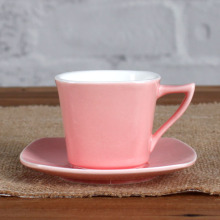 3OZ pink cup and saucer