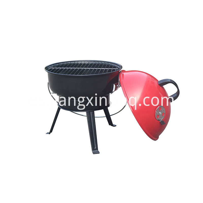 14 Inch Kettle Portable Charcoal Grill Opening