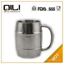 450ml stainless steel beer mug with handle for German