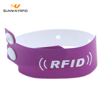 Cakera 13.56mhz F08 Kertas Disposable wristbands RFID