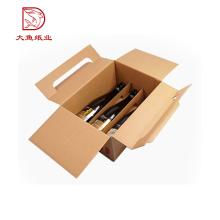 Oem benutzerdefinierte logo dekorative großhandel papier wein verpackung box