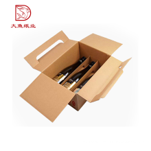 Oem custom logo decorative wholesale paper wine packaging box