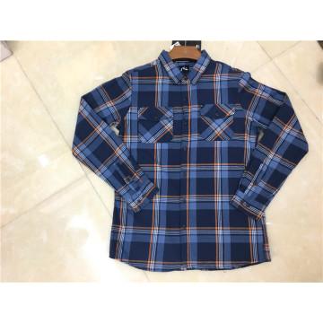 Мужская клетчатая рубашка из 100% хлопка с длинными рукавами