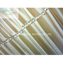 Cortina de poliéster tejido en relieve brillante 75 * 300 D