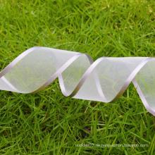 Kundenspezifisches Polyester-Silber 1 Zoll Organzaband
