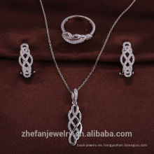 joyería de moda india hecha a mano anillo de plata 925 conjunto