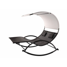 double chaise rocker with steel frame