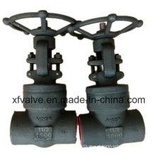 Válvula de porta de aço carbono forjado ou selo de pressão de aço inoxidável