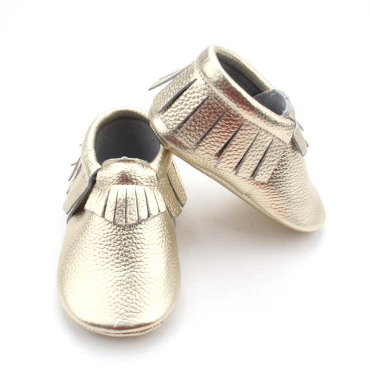 Leather Infant baby Moccasin Shoes Girl