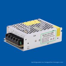 Fuente de alimentación de la conmutación de 60W 12V DC con el conductor de la tira del CE LED