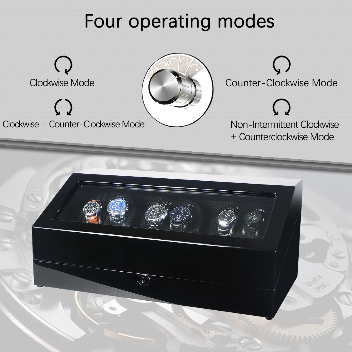 watch winder with cover