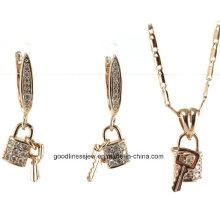 Promotion Vente en gros de bijoux en argent de mode 925 bijoux en argent sterling 925 collier en argent + boucles d'oreilles ensemble de bijoux S3257