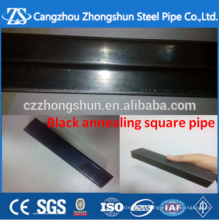 black annealing 25*1.5mm square tube and rectangular steel and pipe