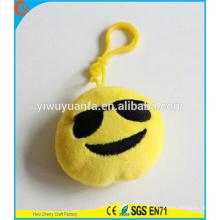 Hot Selling alta calidad novedad diseño emoji llavero con expresión facial