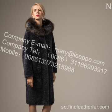 Mink Fur Flower Long Coat på vintern