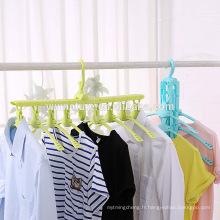 Vêtements de pliage de cintre de blanchisserie cintre de séchage de corde de Clothesline de séchage de cintre pour la maison extérieure et intérieure