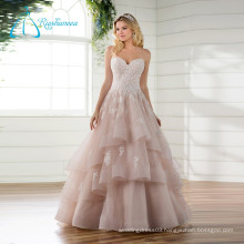 Lace Appliques Sequined Beading Pearls Wedding Dress
