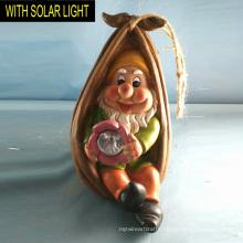 Solar Lighted Dwarf in Bag Garden Hanging Decoration