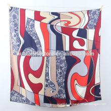 2014 La nueva seda pura del diseño imprimió la bufanda de yiwu