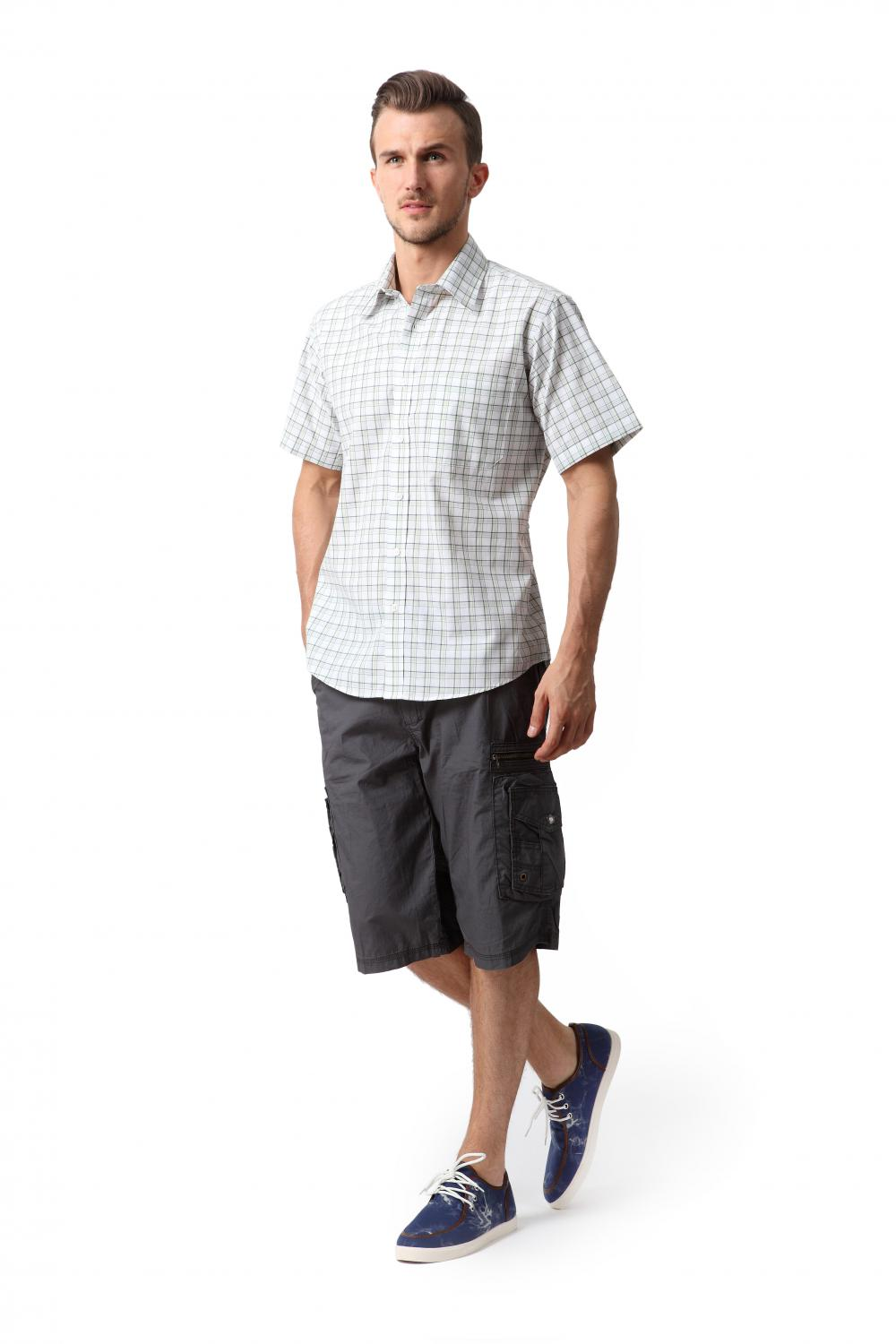 Men's fine cotton washed shorts