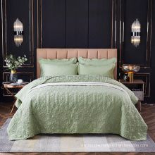 Made in China Hotel Cover Bedspread Twin Size Light Green for All Season