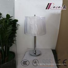 Hotel Decorative White Fabric Shade Iron Table/Desk Lighting